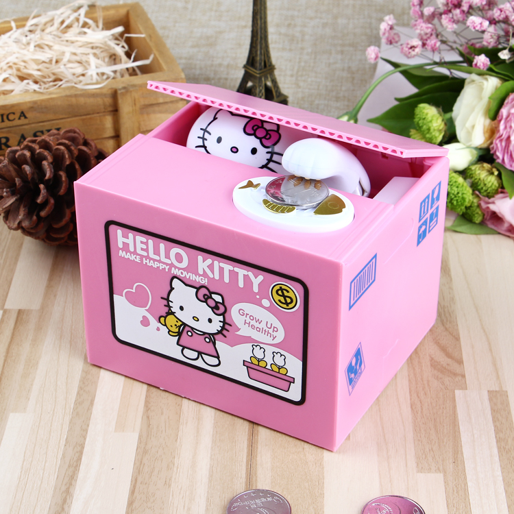 2019 New Fashion Funny Cheap atm hello kitty atm coin bank