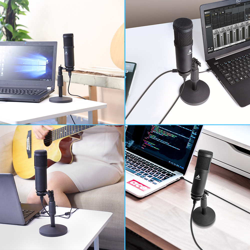 MAONO Professional  USB Play and Plug  Desktop Podcasting Microphone