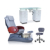 Luxury Pipeless Gray Modern Lexor Manicure Spa Pedicure Chair For Sale