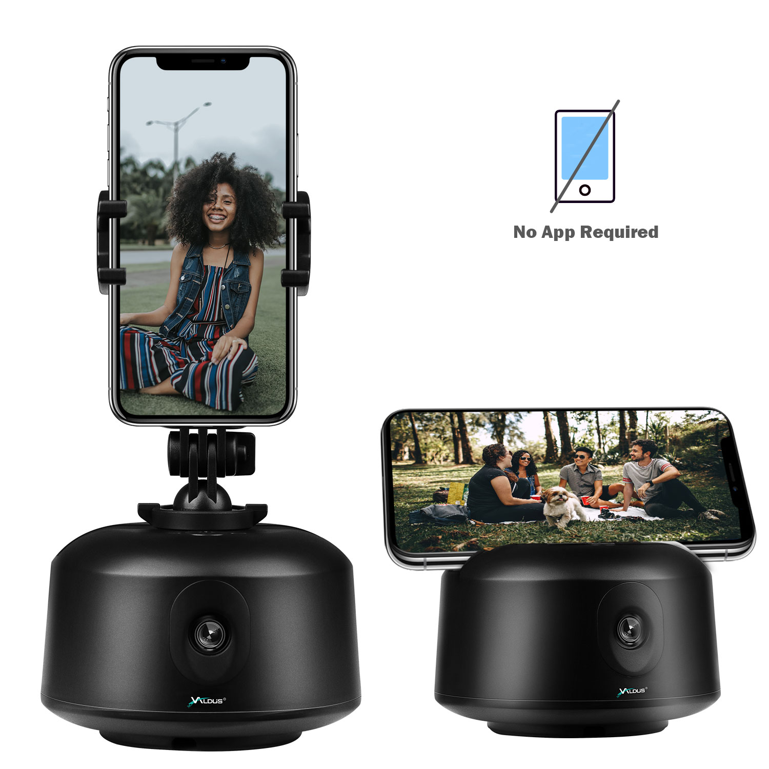 Wholesale Automatic Robot Cameraman 360 Degree Object Tracking Smart Selfie Auto Rotation Phone Holder