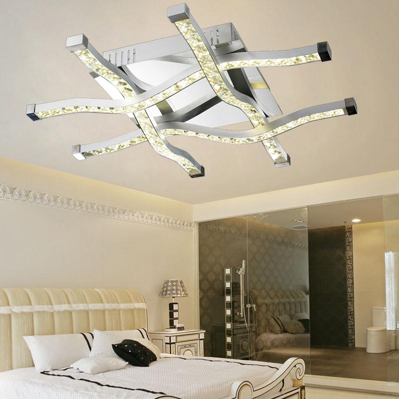 현대 럭셔리 Led 직사각형 크리스탈 천장 램프