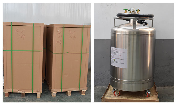 Low price 500L YDZ-500 liquid nitrogen cryo container for Ice cream making