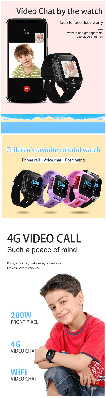 waterproof small 4G children sos smartwatch phone locator smart kids tracking device gps tracker watch
