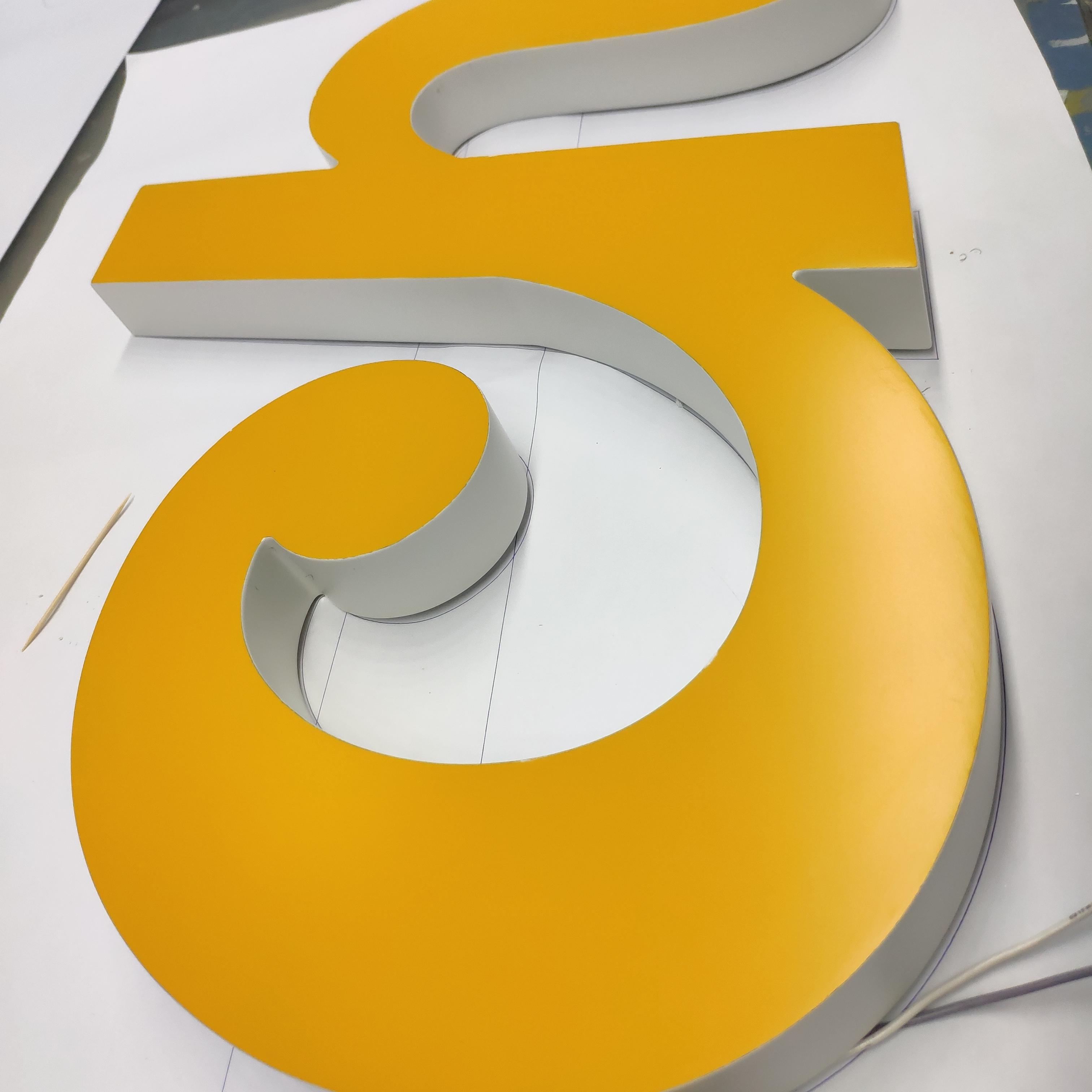 Durable energy saving 3D acrylic face light letters for office shop logo
