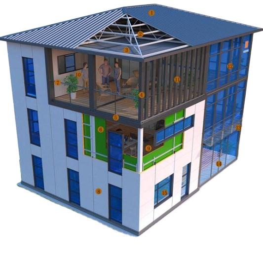 Cheap Light Steel Prefab House / Ready Made House Villa