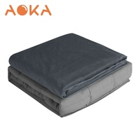 "Aoka 48""x72"" High Quality Heavy Minky Cover Sensory Weighted Blanket For Adult"