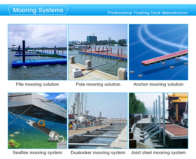 Marnolin modular floating jetty  floating dock plastic pontoon cubes
