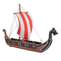 New creative retro viking pirate ship ornaments home decorations dragon boat incense board holiday gift