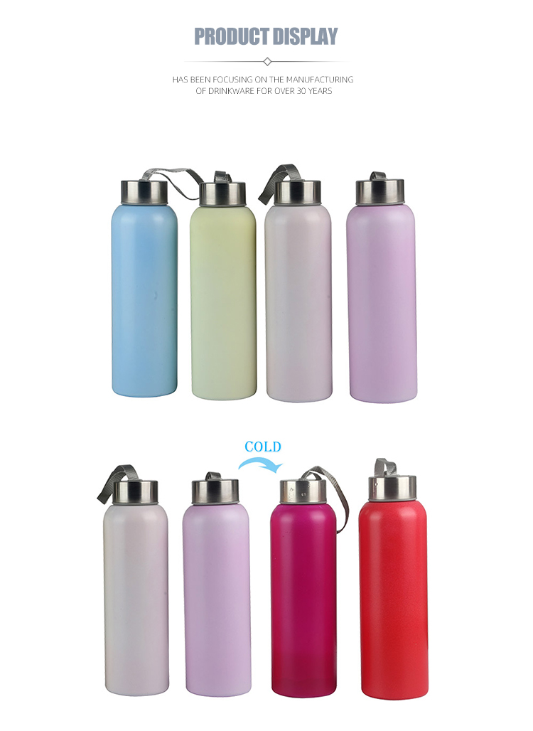 Stainless steel water kids color change magic bottle bpa free
