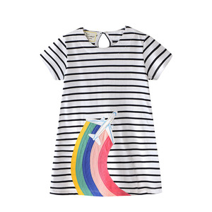 Cheap China Wholesale Kids Clothing 100% Cotton Girls Striped Dress Summer Dress For Girls Dresses