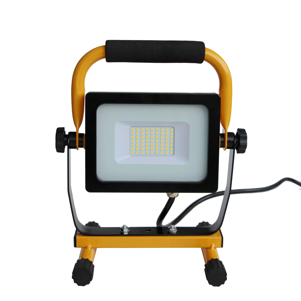 32 Watt 3000 Lumen IP65 Waterproof ETL listed Portable led Flood Lights with stand for Workshop, Construction Site