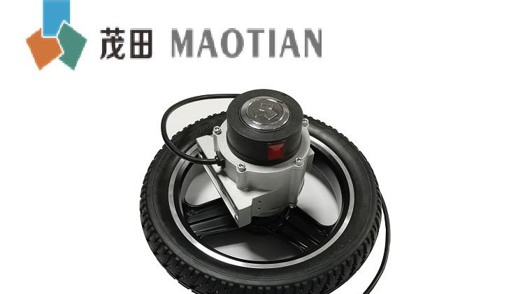 Toptan yüksek verimli elektrikli tekerlekli sandalye motor MT28 / BLDC hub motoru/24V dc hub motor lastikler ile
