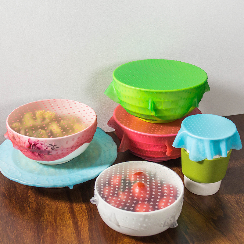 BPA Free Plastic Wrapping Food Cover Film Round Stretch Lids For Different Usages