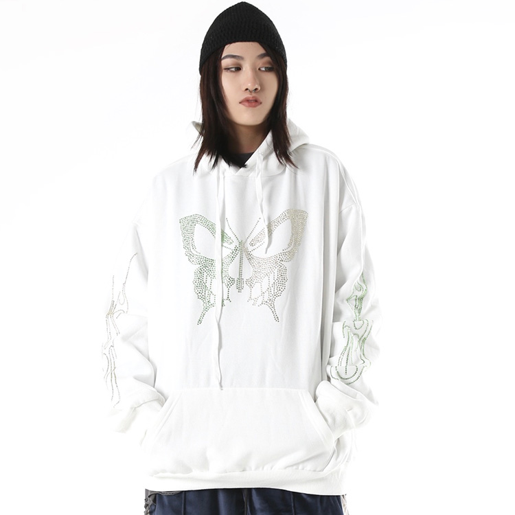 Ucuz yüksek kalite özel logo baskı kazak boy kadın hoodies