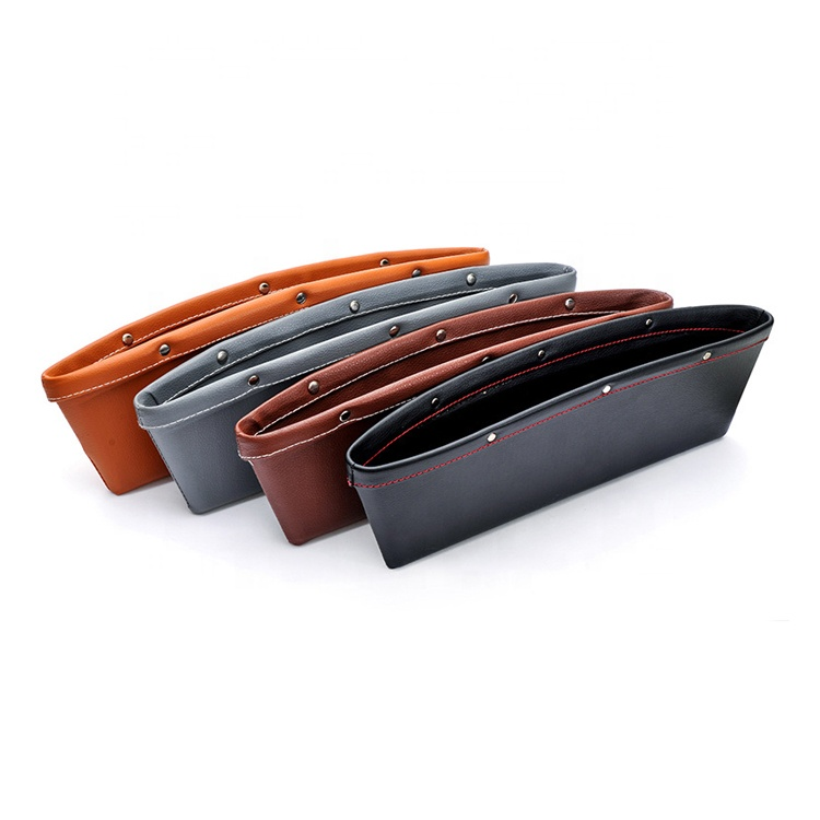 Factory Wholesale Gap Filler Organizer PU Leather Car Seat Side Pocket