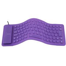 Новая складная силиконовая клавиатура USB Проводная Силиконовая Защитная мягкая Водонепроницаемая свернутая кремнеземная Клавиатура для н...(Китай)