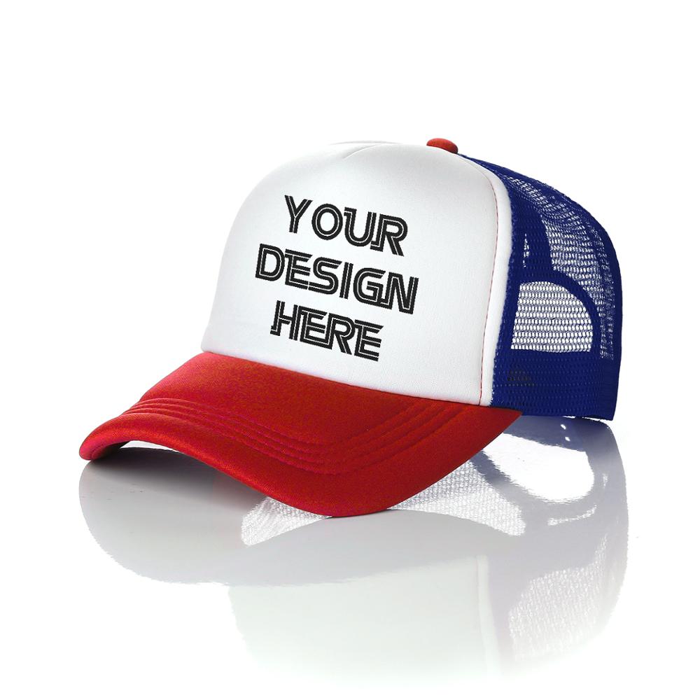 Hot selling custom logo mesh 5-panel trucker cap sports hat