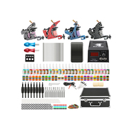 Starter Complete 2017 hot sale Stainless Steel 4 guns Tattoo kit/ tattoo starter kit/tattoo guns