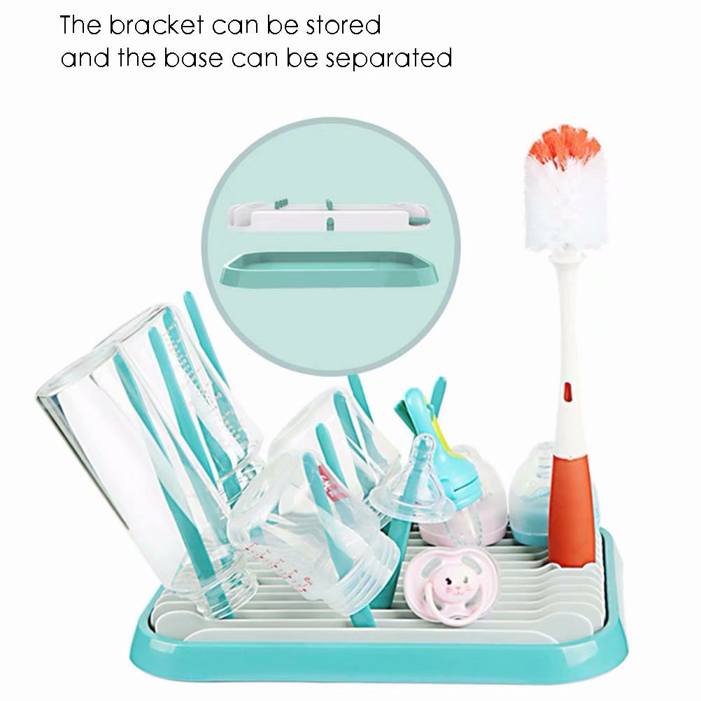 Countertop Removable Organizer Drain Infant Baby Bottle Drying Rack