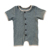 Infant baby wholesale kids ribbed cotton shortly harem romper button short sleeve jumper