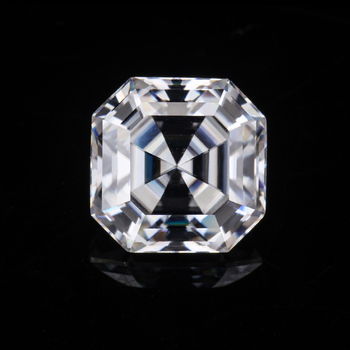 starsgem moissanite white stone 14k Real White Gold jewelry 1 ct asscher cut moissanite stone price