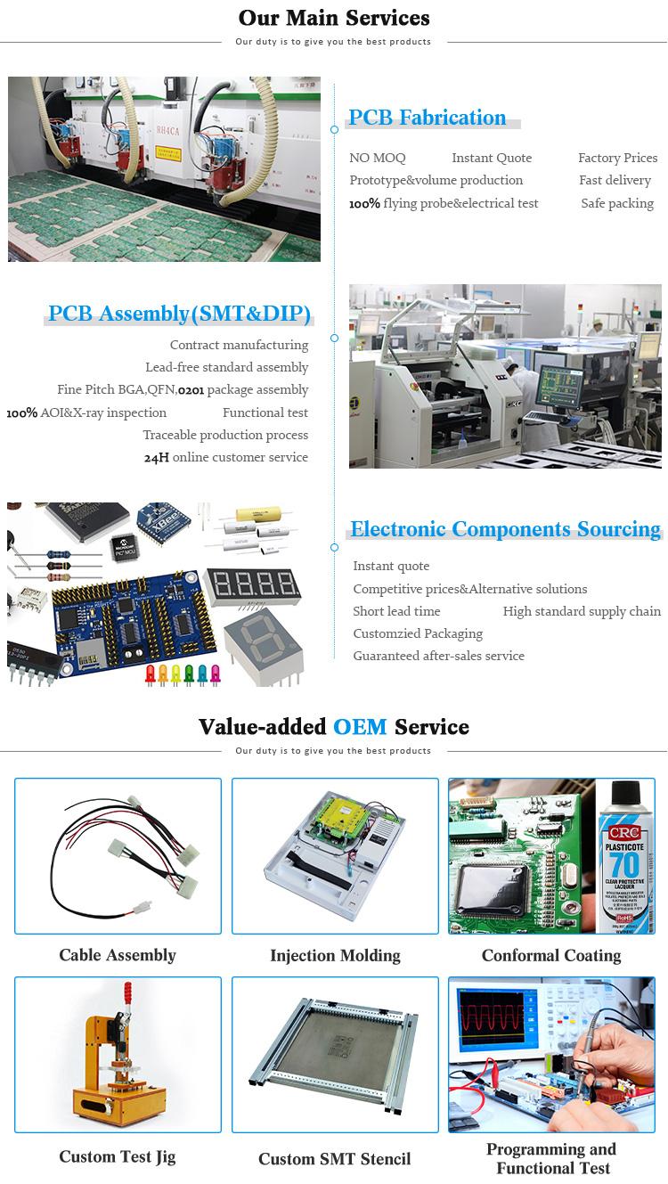 China Shenzhen Electronics Manufacturer Custom FR4 ru 94v0 Rohs Printed Circuit Boards Prototype Pcb