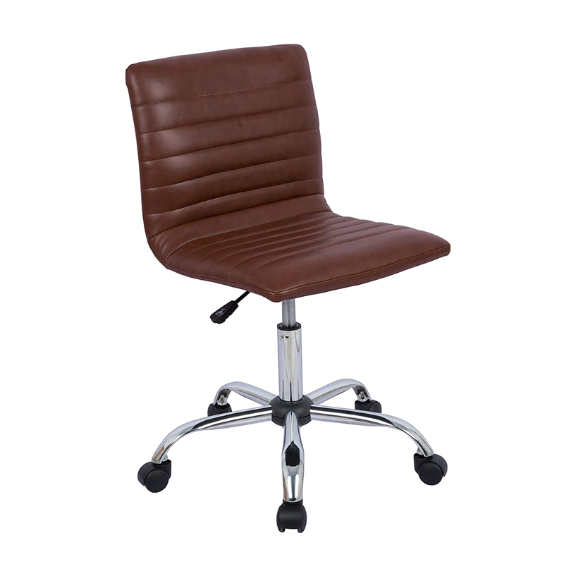 USA Stock Adjustable Height Ribbed Low Back Armless Swivel Conference Room Task Desk Chairs