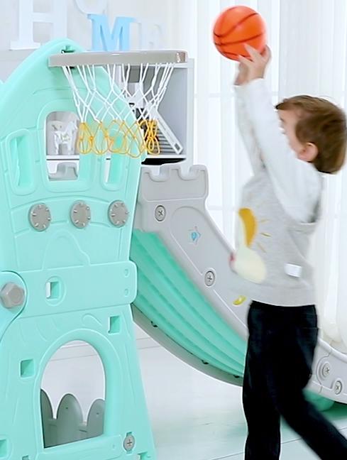 Популярный замок, детская пластиковая горка с качели, детская крытая игровая площадка, игрушки для детей