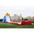 Commercial adults and kids 4 lanes slip and slide giant inflatable hippo water slide for sale