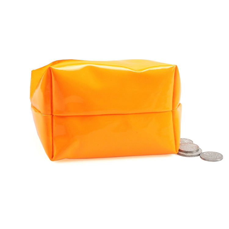 Portable Zippered PU Change Purse Makeup bag Coin Pouch