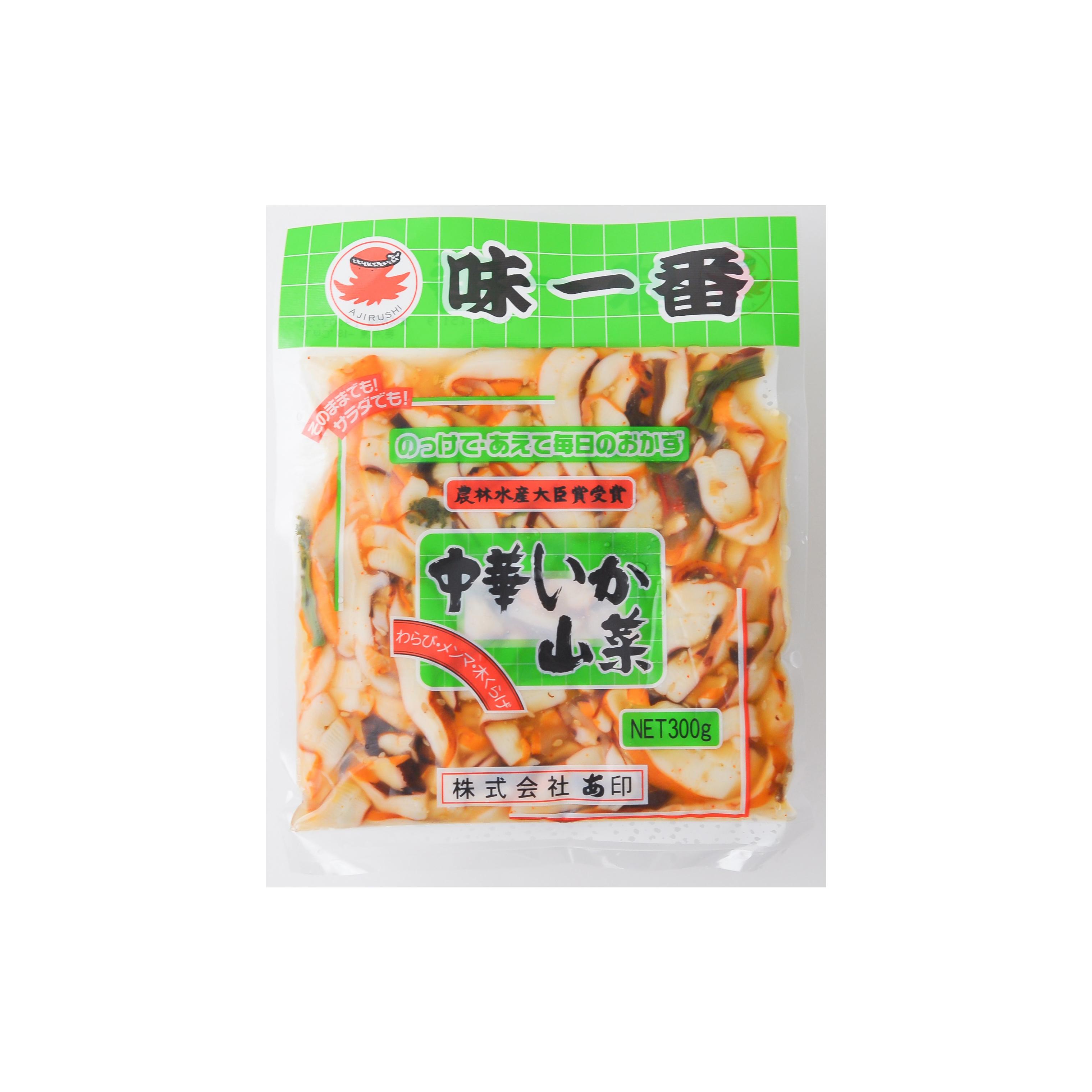 Frozen Seasoned Squid(chuka ika sansai)300g (p6)