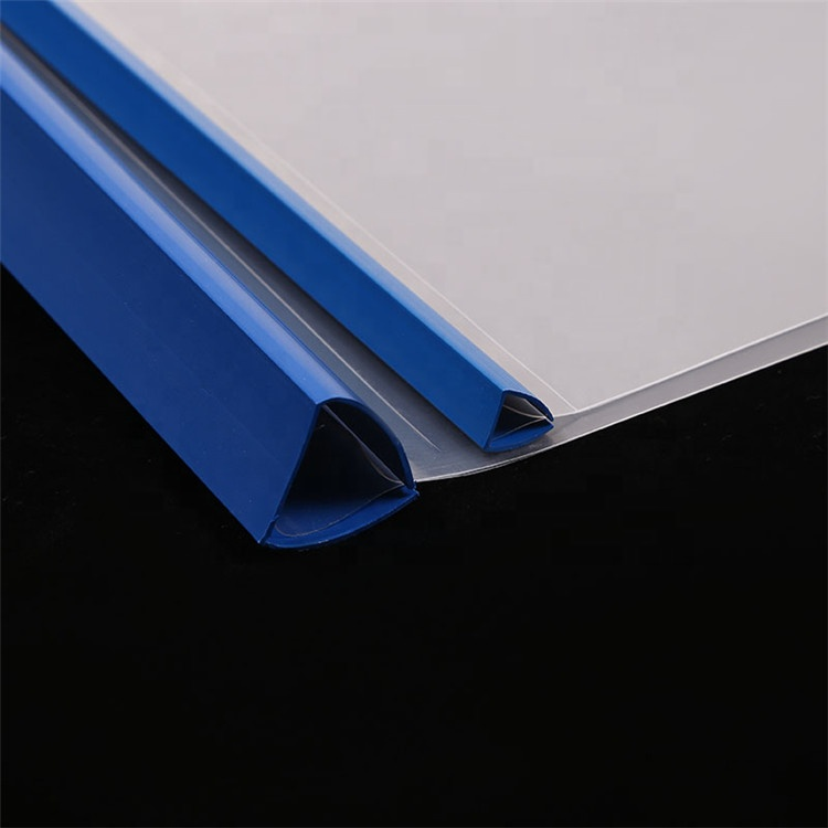 Chinese Factory Transparent A4 Size Office Stationery PP Slide Bar Report File Folder