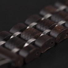Замена браслета для Apple Watch 4 серии браслетов деревянный ремешок 38 мм 42 мм 40 мм 44 мм черный ремешок для часов(Китай)