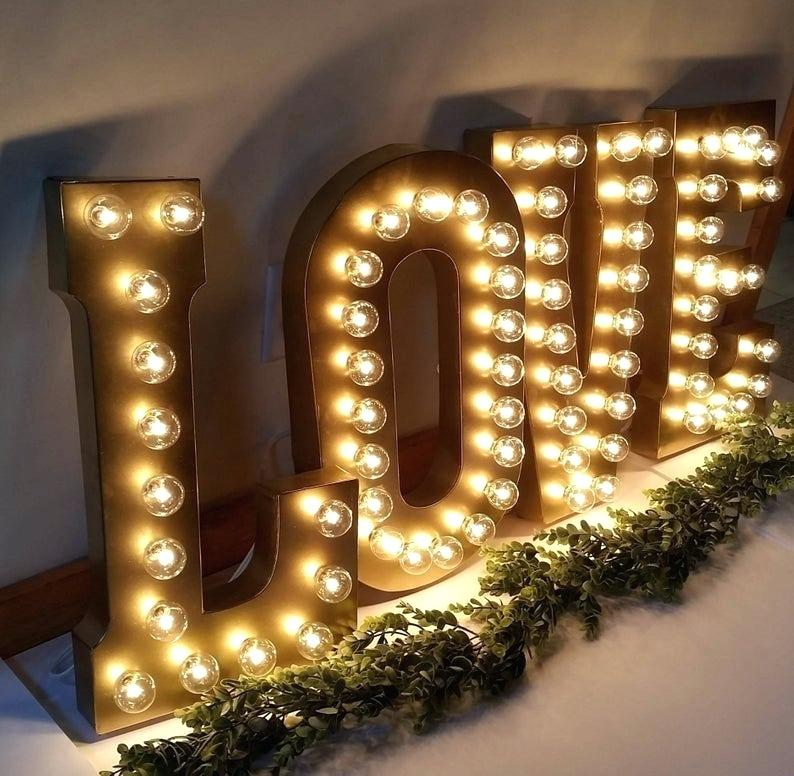 Illuminated Sign Custom Love 4Ft 5Ft Led Marquee Letters Lights