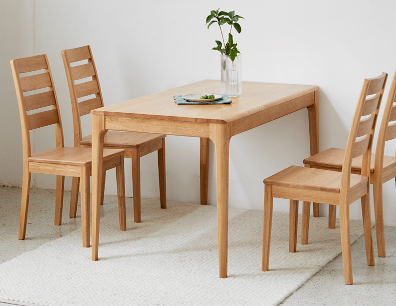 product-BoomDear Wood-solid wood table dining table set short 4 persons modern online pine ash oak w-1