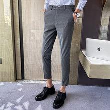 Модные мужские деловые брюки на свадьбу, повседневные облегающие классические брюки, уличная одежда, деловые брюки, костюм Homme 2020(Китай)