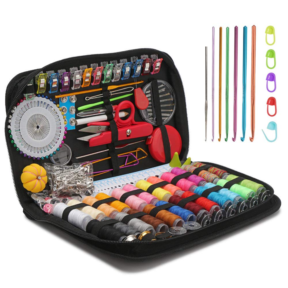 282 Pcs Mending Supplies with Accessories,Leather Sewing Kit For Home