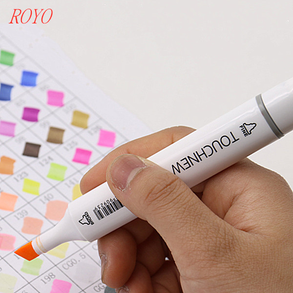 Touchnew T6-80Colors Permanent Art Marker Pens Set 30 <strong>Color</strong> With Double-Headed For Painting