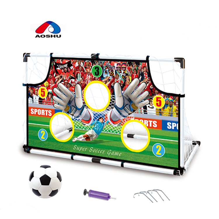 חסכוני כדורגל אימון סט לבלבל צלחת מיני כדורגל נייד עם inflator