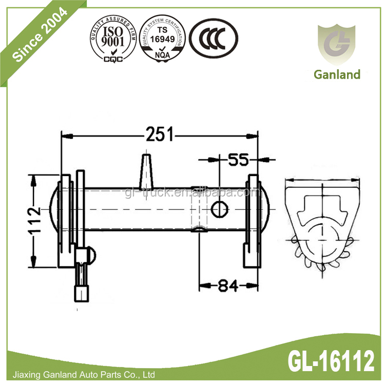 GL-16112 Trailer Body Parts Heavy Duty Lashing Drum Cable Winch