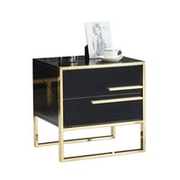 Simple modern style bed sofa corner end table side table with drawer