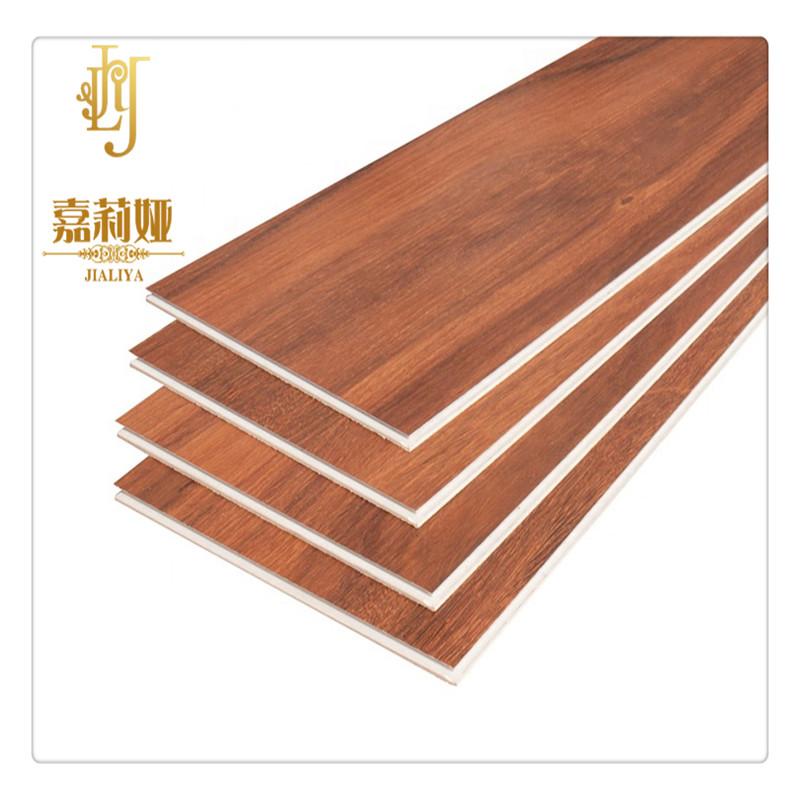 China Manufactory waterproof vinyl tile red Wood pattern floor SPC