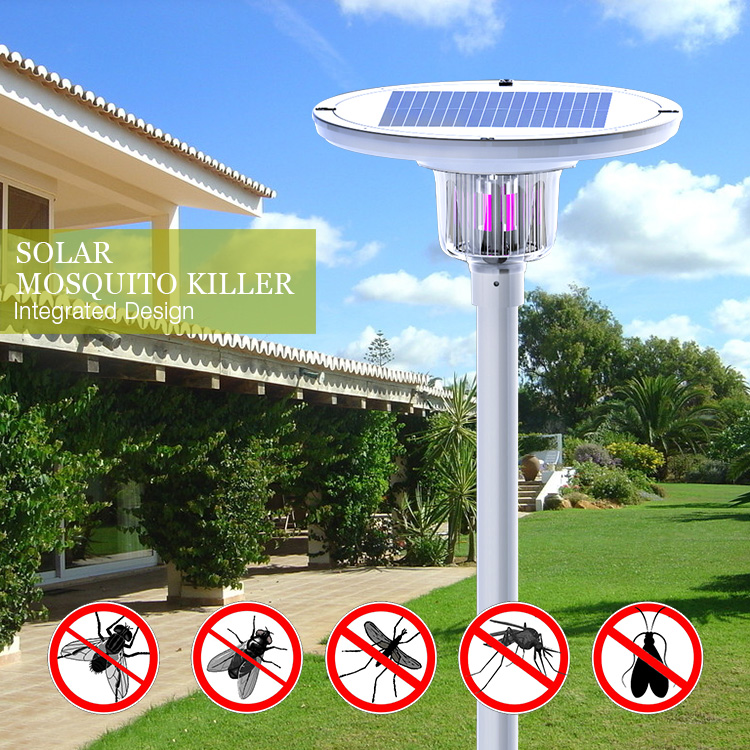 25 watt led solar street light  UV mosquito killer led light solar outdoor light