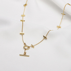 Wholesale Fashion Design Chain Charm Jewellery Gold Plated Pendant Necklace