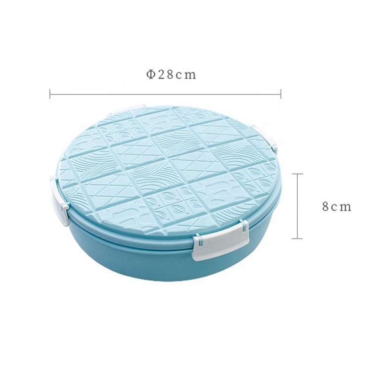 AFTCE172(3) Round Plastic Food Container with Lid House Candy Dried Fruit Box