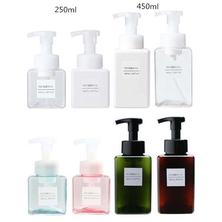 חם למכור קצף בקבוק עם משאבת 250ml עבור יד סבון לטיפוח העור