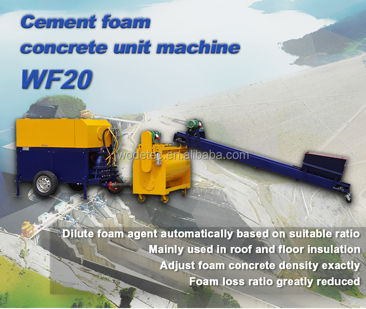 energy saving WF20 clc foam concrete machine with high strength