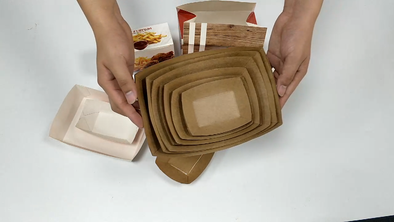 FDA Wholesale high quality chinese products custom folding disposable biodegradable kraft paper hot dog take away fast food box