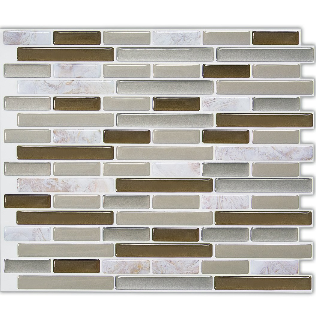 2020 Premium Peel and Stick Tile Backsplash, Arabesque Self Adhesive Wall Tiles, Stick on Backsplash for Kitchen & Bathroom