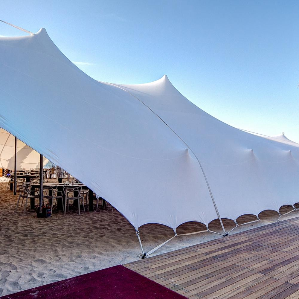 Bedouin Stretch Tent Fabric Waterproof Fire Resistant For Wedding Party Event Marquee Tents